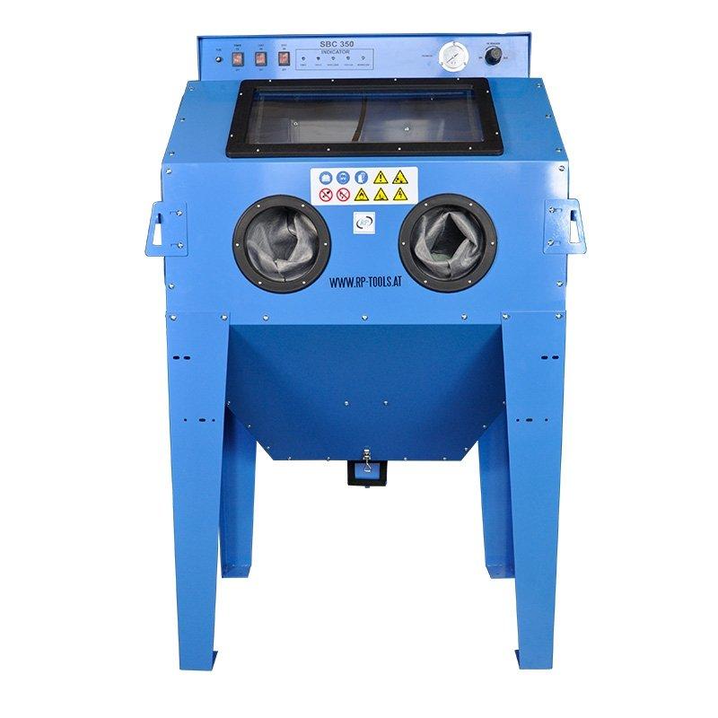 PROFI Sandstrahlkabine Typ 350L Perfektes Gerät zum Sandstrahlen von mittleren und großen Teilen.