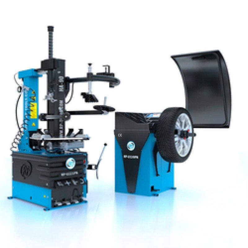 Reifen Montiermaschine und Wuchtmaschine Set.