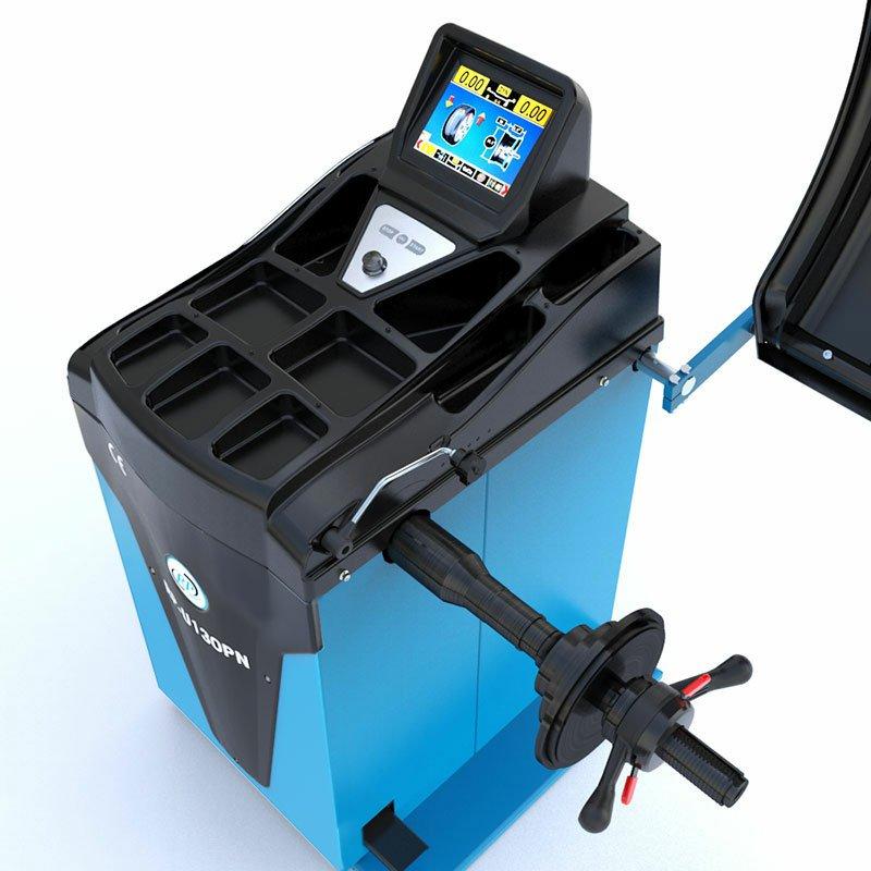 Reifenwuchtmaschine vollautomatisch 230V, 10-32 Zoll mit Messarm Felgenbreite und LCD-Display